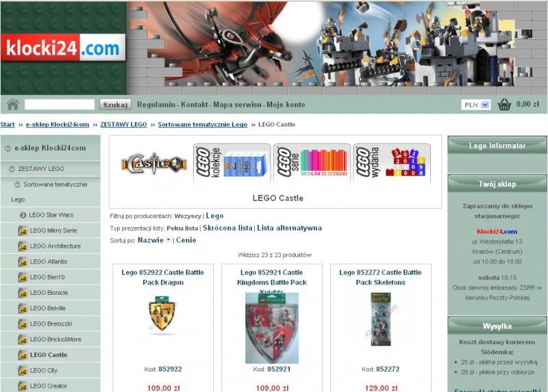 Sklep Z Klockami Lego Klocki24com Realizacja Agencji